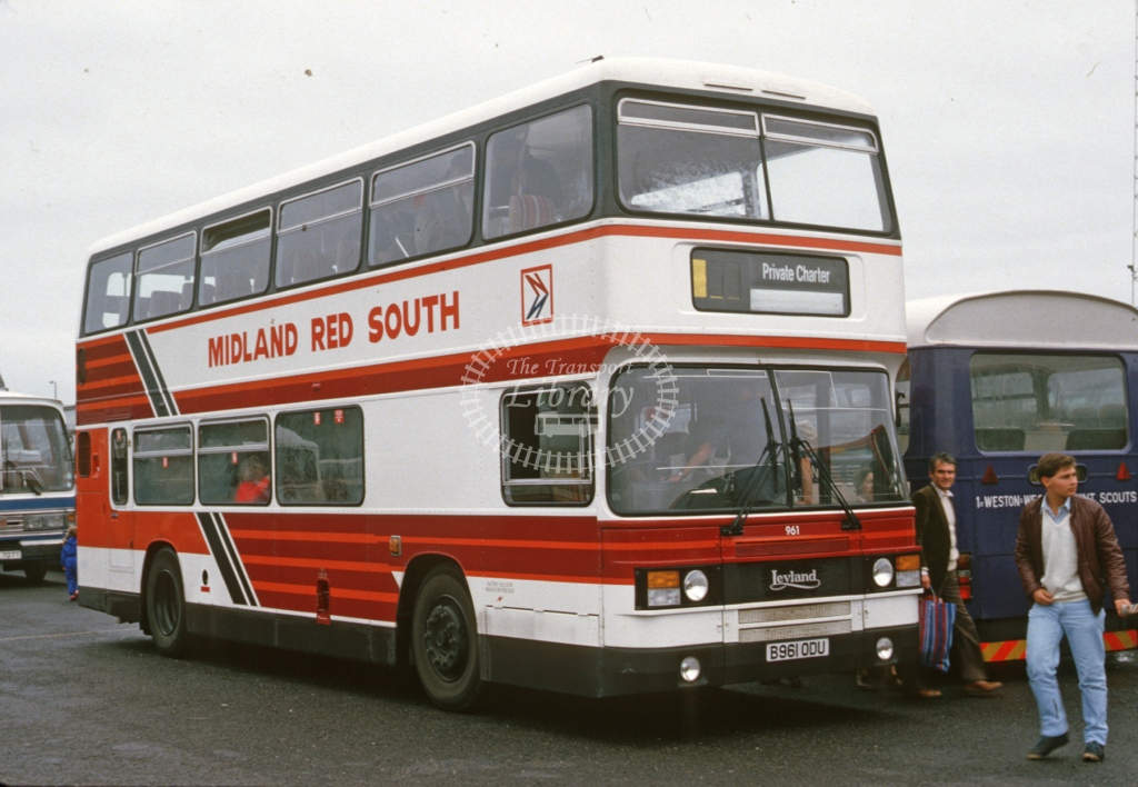 Midland Red South Leyland ON 961 B961ODU  at Blackpool  in 1985 -  Sep  - Roy Marshall