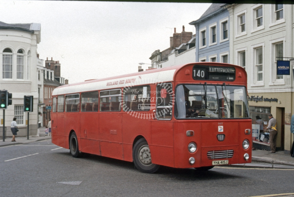 Midland Red South Leyland PSU3 6415 YHA415J  at Lutterworth  in 1986 -  Aug  - Roy Marshall