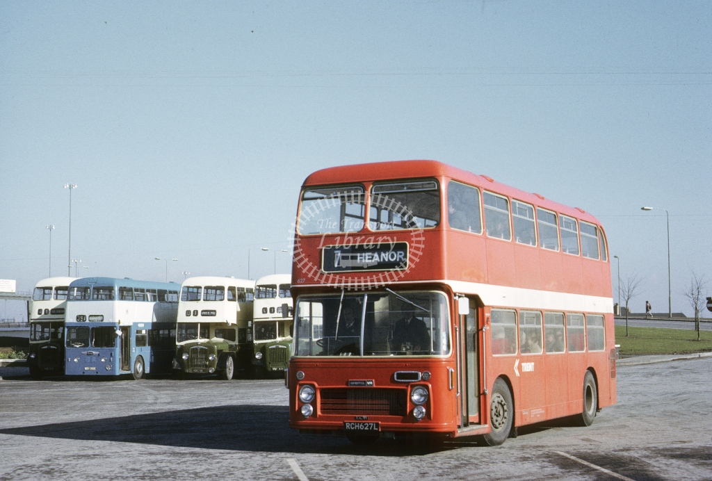 Trent Bristol VRTSL 627 RCH627L  at Derby  in 1973 - Feb - Roy Marshall
