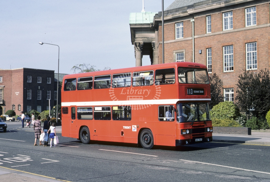 Trent Leyland ONLX 702 XAU702Y  at Derby  in 1984 - Mar - Roy Marshall
