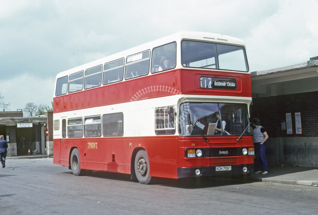 Trent Leyland ONLX 706 XCH706Y  at Derby  in 1983 - May - Roy Marshall