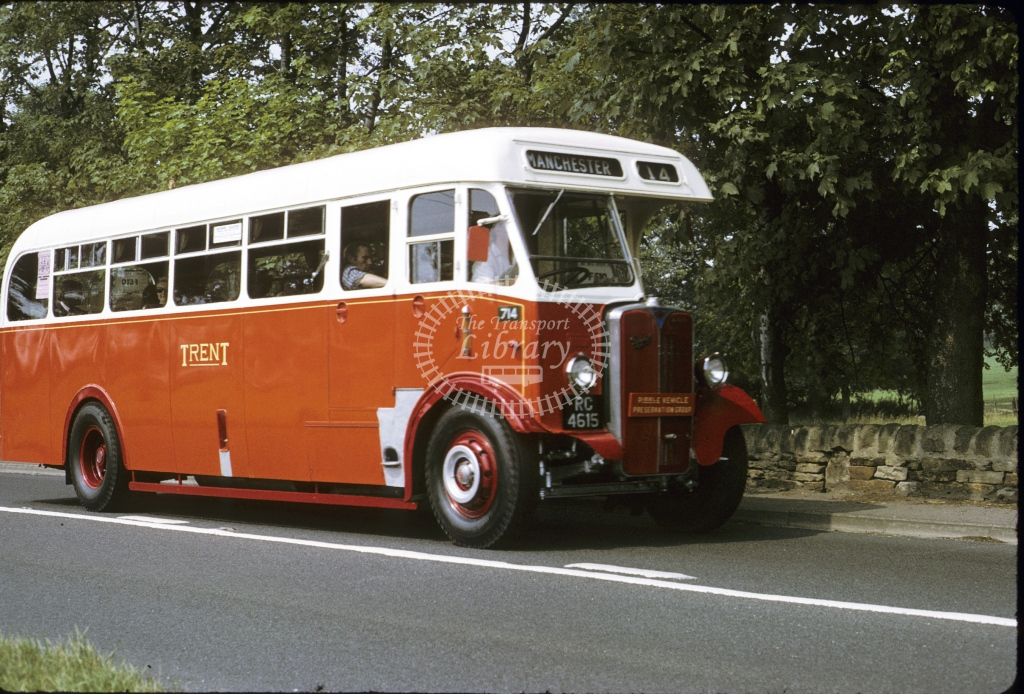 Trent AEC Regal 714 RC4615  at Huby  in 1975 - Aug - Roy Marshall