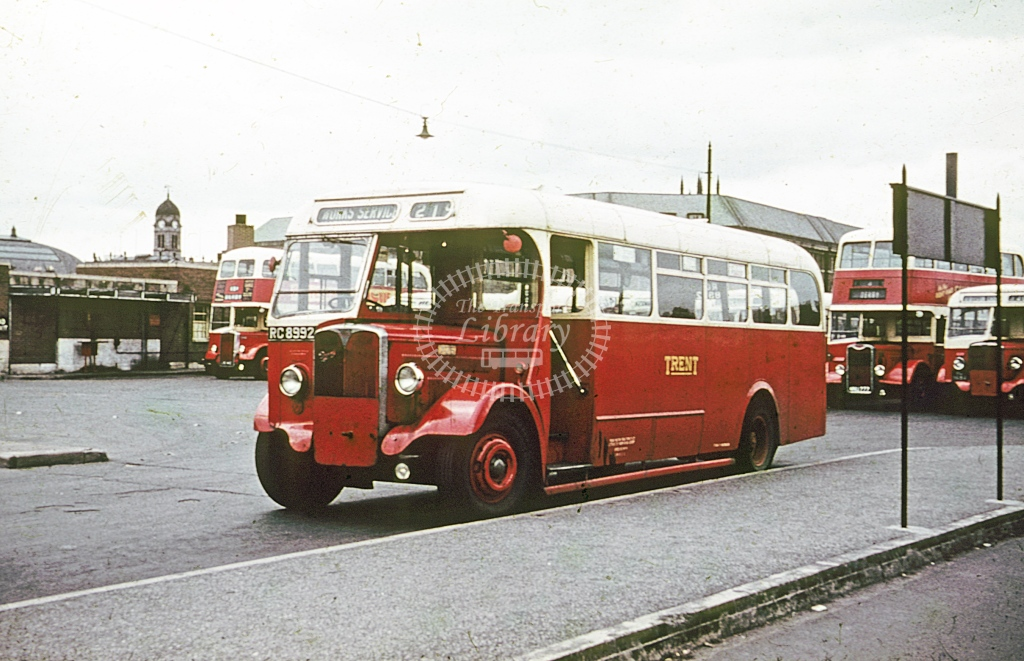 Trent AEC Regal 726 RC8992  at Derby  in Undated -  - Roy Marshall