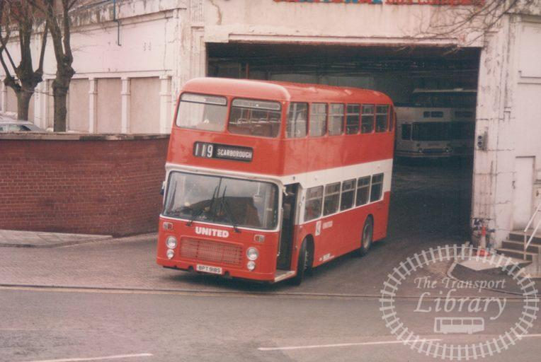 United Bristol VR 718 BPT918S at Scarborough in 1986 on route 119 - 19/04/1986 - Malcolm Hyland