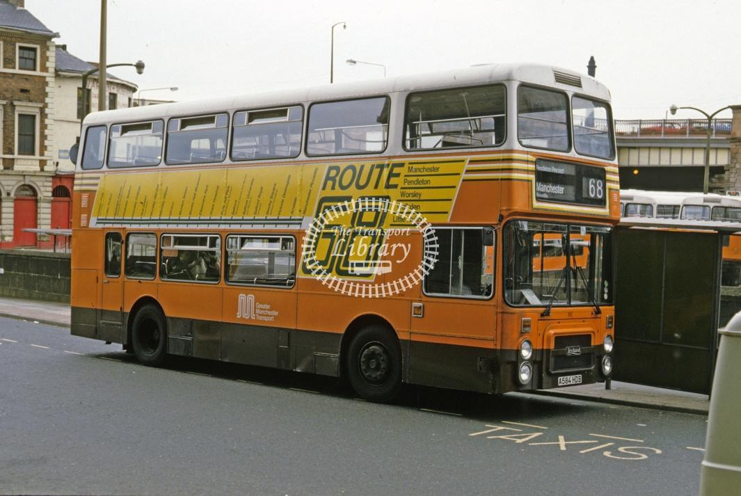 Greater Manchester PTE Leyland ONTX 3019 A576HDB at Manchester in 1986 - Jun 1986 - Roy Marshall