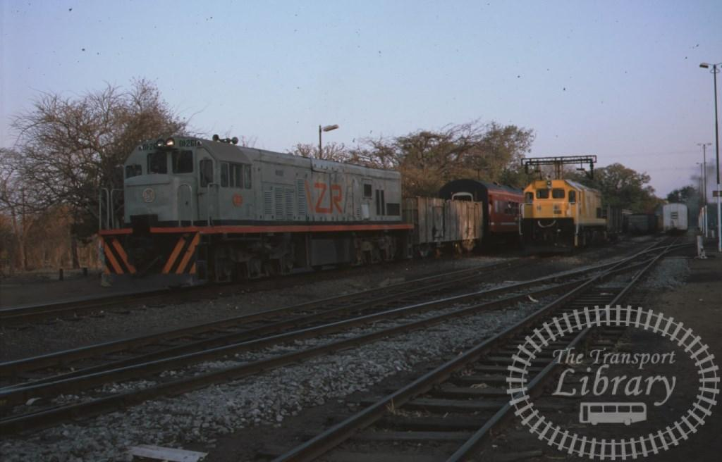 ZR Zambia Railways Diesel Locomotive 01-261  at Livingstone in 1996 - Mike Reynolds