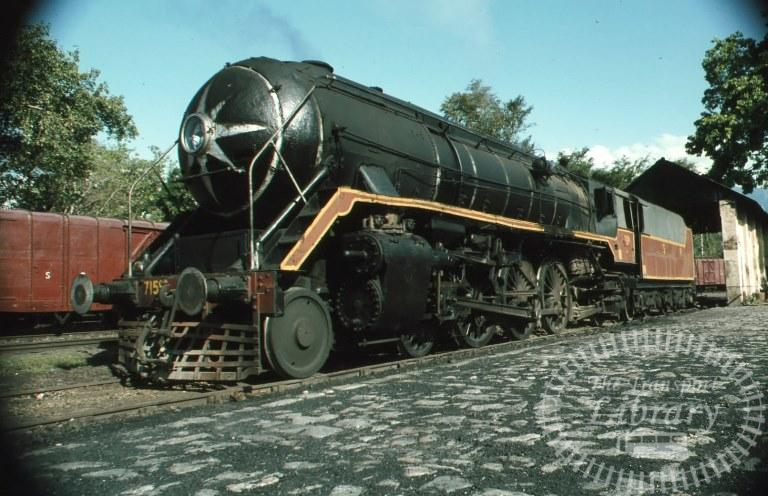 Indian Railways Steam Locomotive Class WP WP 7159  at Mettu in 1981 - Mike Reynolds