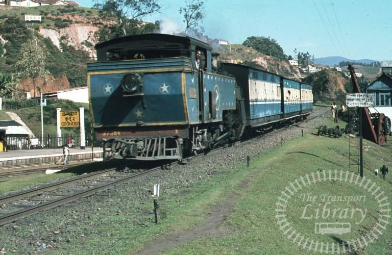 Indian Railways Steam Locomotive Class X X 37384  at Coonor in 1981 - Mike Reynolds