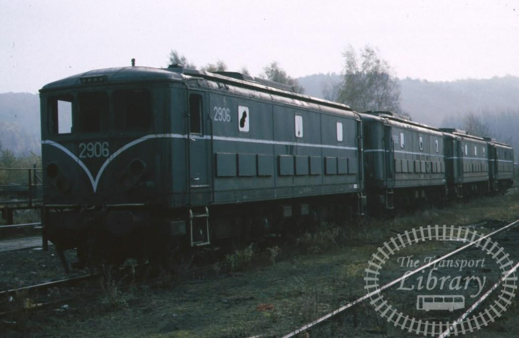 SNCB Belgium Railways Diesel Locomotive 2906  at Ronet Shed in 1984 - Mike Reynolds