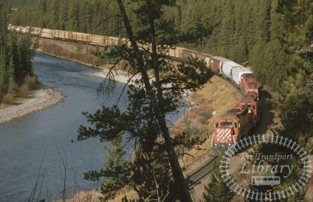 CP Rail Diesel Locomotive 5947  at Unknown location in 1996 - Mike Reynolds