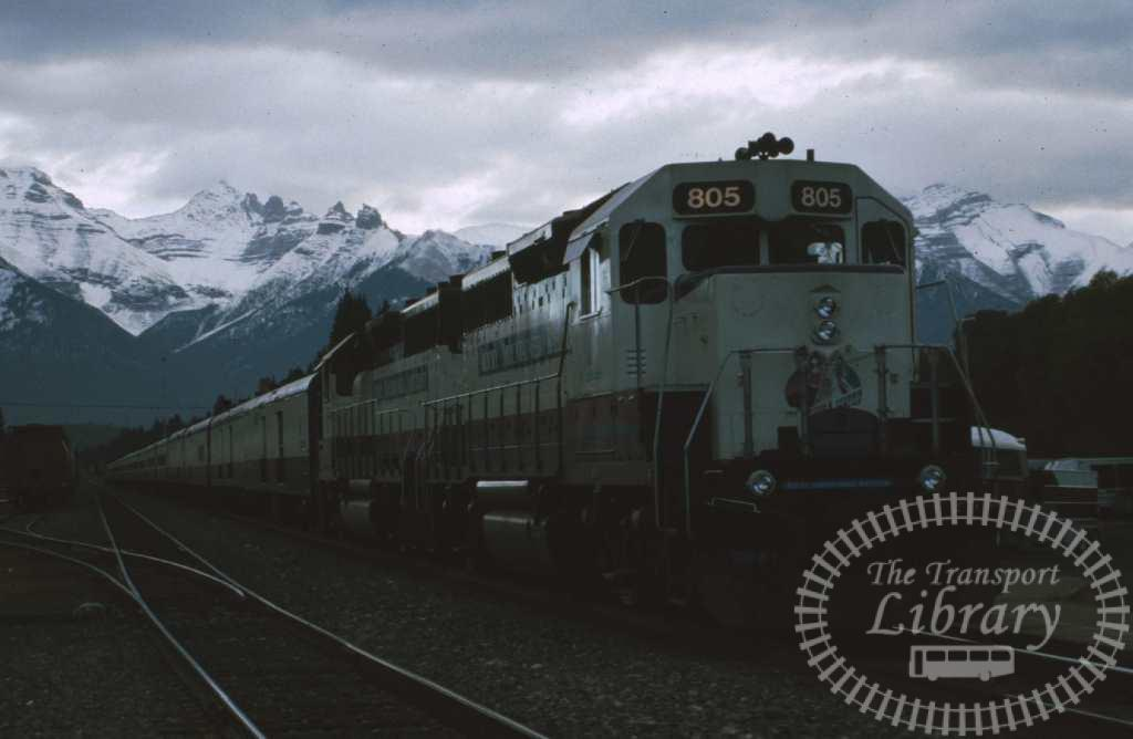 Rocky Mountain Railtours Diesel Locomotive 805  at Unknown location in 1996 - Mike Reynolds