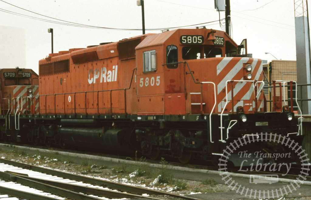 CP Rail Diesel Locomotive 5805  in 1996 - Mike Reynolds