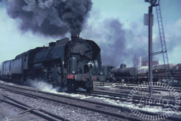 SNCF French Railways France Steam Locomotive Class 141R 141R 1272  at Boulogne in 1968 - Mike Reynolds