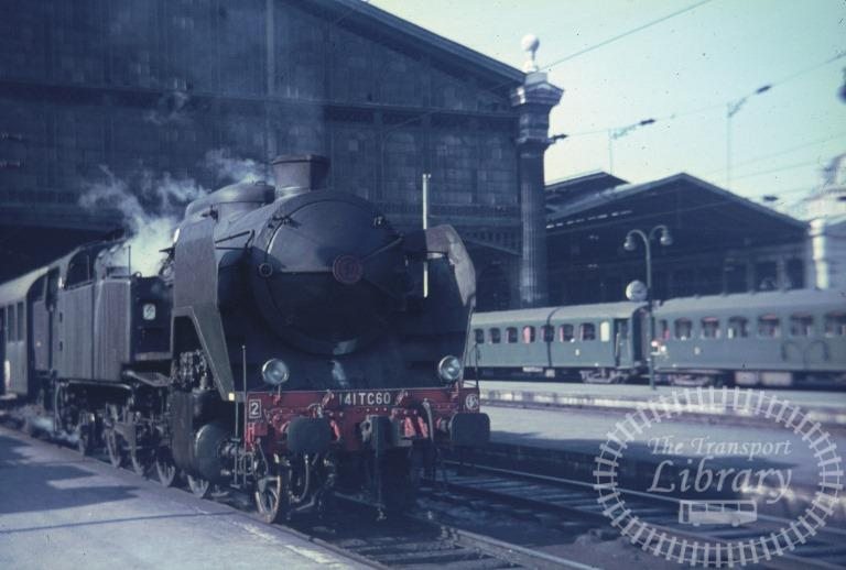 SNCF French Railways France Steam Locomotive Class 141TC 141 TC 60  at Paris Gare du Nord in 1967 - Mike Reynolds