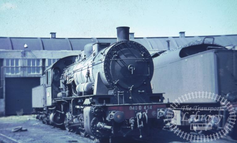 SNCF French Railways France Steam Locomotive Class 040 D 040 D 454  at Calais in 1968 - Mike Reynolds