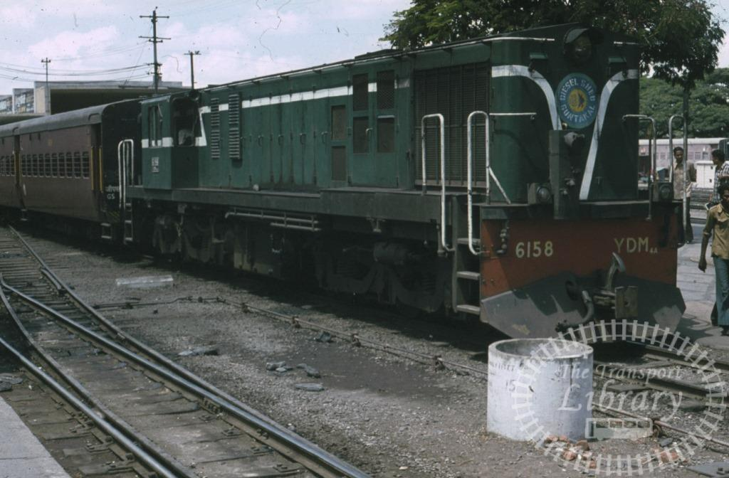 Indian Railways Diesel Locomotive Class YDM YDM 6158  at Bangalore in 1981 - Mike Reynolds