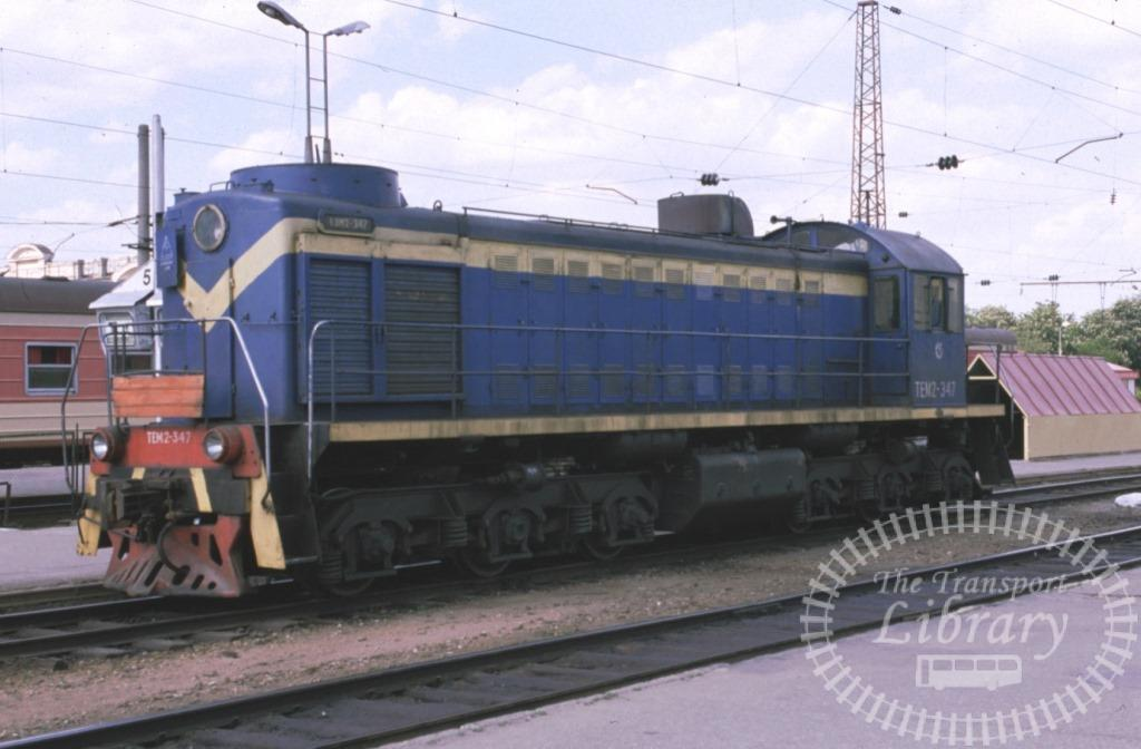 Lithuania Railways Diesel Locomotive Class TEM2 TEM2 347  at Vilnius in 1999 - Mike Reynolds