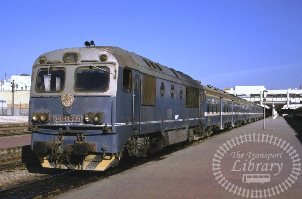 SNCFT Tunisian Railways Diesel Locomotive 040 DL 235  in 1990 - Mike Reynolds