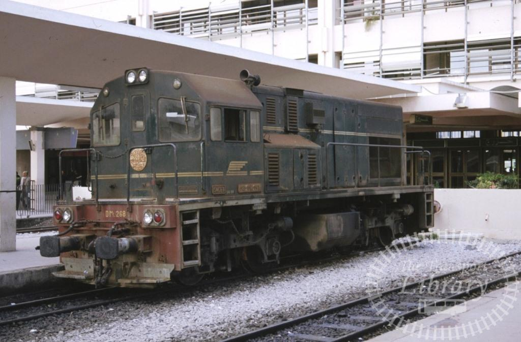 SNCFT Tunisian Railways Diesel Locomotive DM 268  in 1990 - Mike Reynolds
