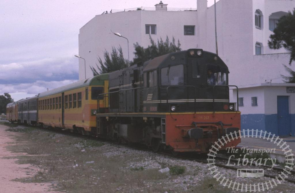 SNCFT Tunisia Railways Diesel Locomotive DM263  at Sousse in 2003 - Mike Reynolds
