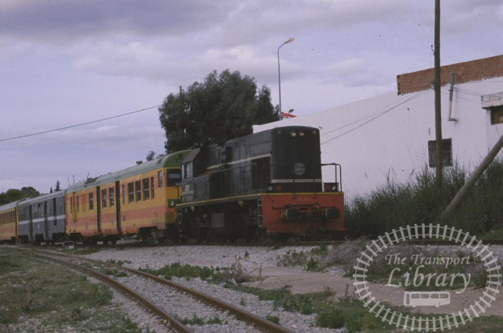 SNCFT Tunisia Railways Diesel Locomotive  at Sousse in 2003 - Mike Reynolds