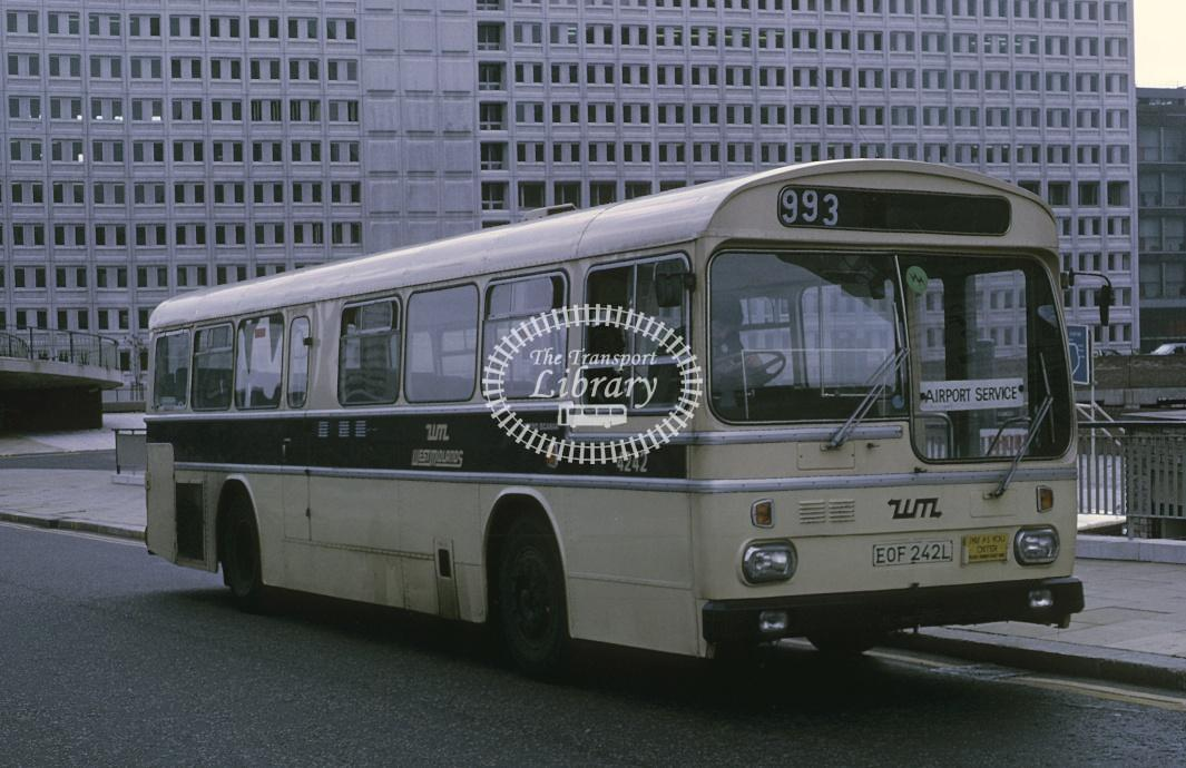 West Midlands Scania BR11 4242 EOF242L at Birmingham in 1975 - Sep-75 - Roy Marshall