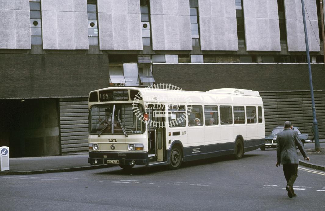 West Midlands Leyland Nat 4470 ROK470M at Birmingham in 1975 - Sep-75 - Roy Marshall