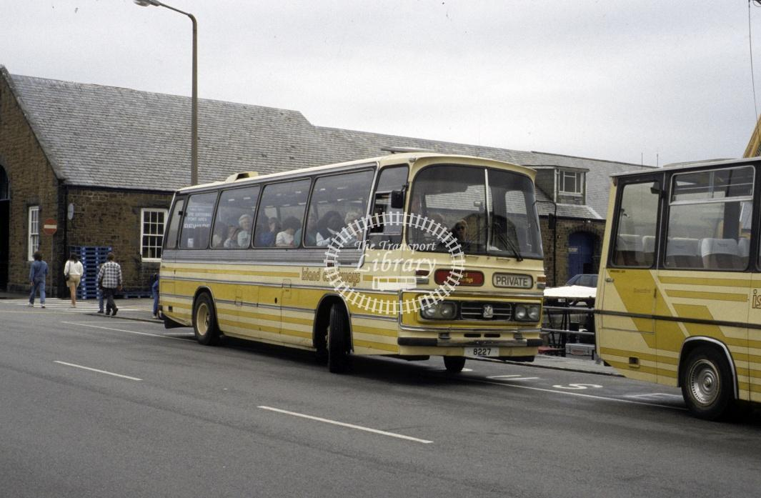 Island Coaches Bedford SB 8227 at St Peter Port in 1994 - Aug 1994 - Roy Marshall