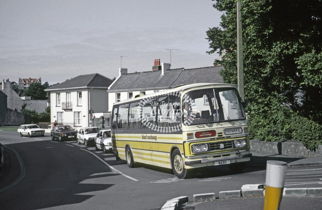 Island Coaches Bedford SB 8230 at St Peter Port in 1992 - Jul 1992 - Roy Marshall