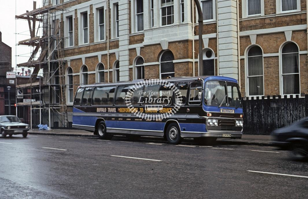 Group Travel, Flitwick Ford R1114 SJH842M at London King's Cross in 1982 - Dec 1982 - Roy Marshall
