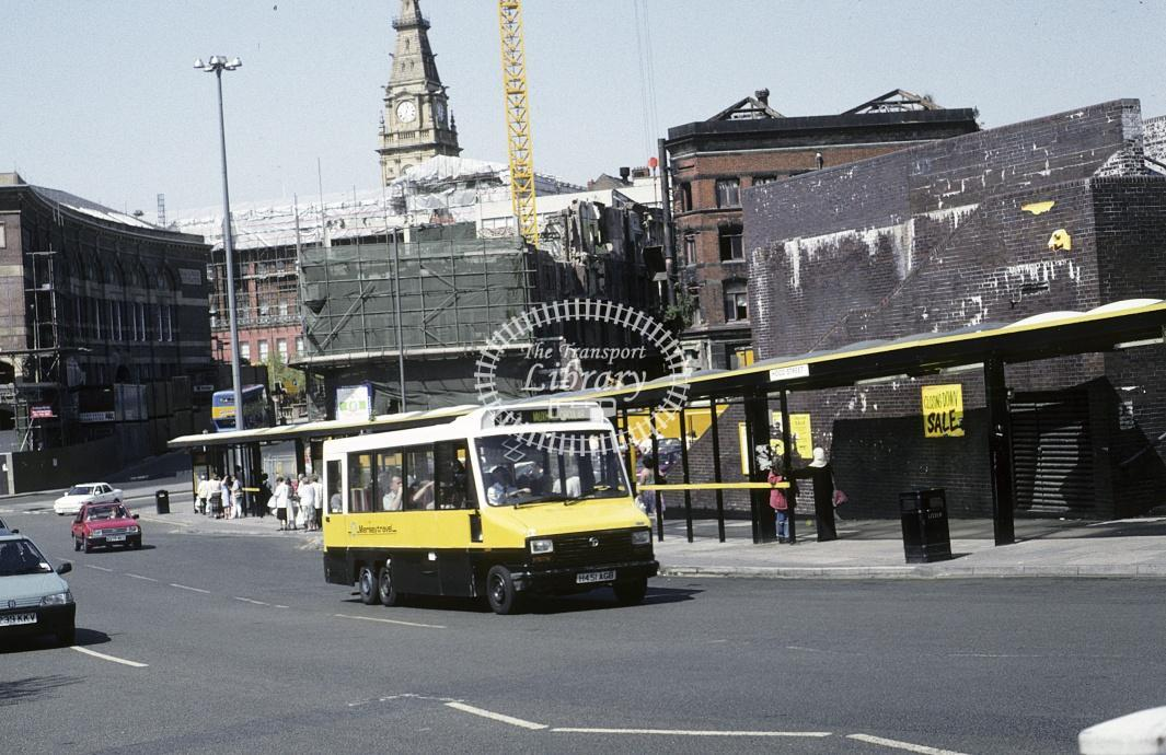 JC Minicoaches, Whiston Talbot Pullman A451JGB at Liverpool in 1995 - May 1995 - Roy Marshall