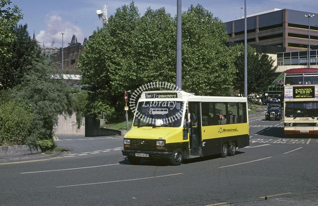 JC Minicoaches, Whiston Talbot Pullman H451AGB at Liverpool in 1995 - Jun 1995 - Roy Marshall