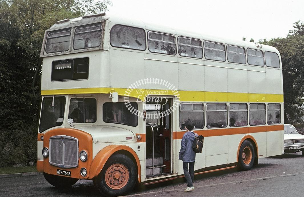 Ford, St Anns Chapel AEC Regent V AFN764B at Callington in 1982 - Jul 1982 - Roy Marshall