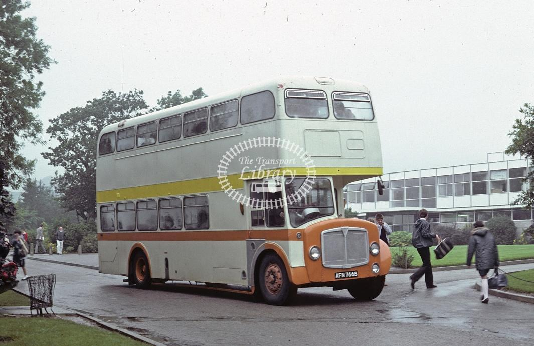 Ford, St Anns Chapel AEC Regent V AFN766B at Callington in 1982 - Jul 1982 - Roy Marshall
