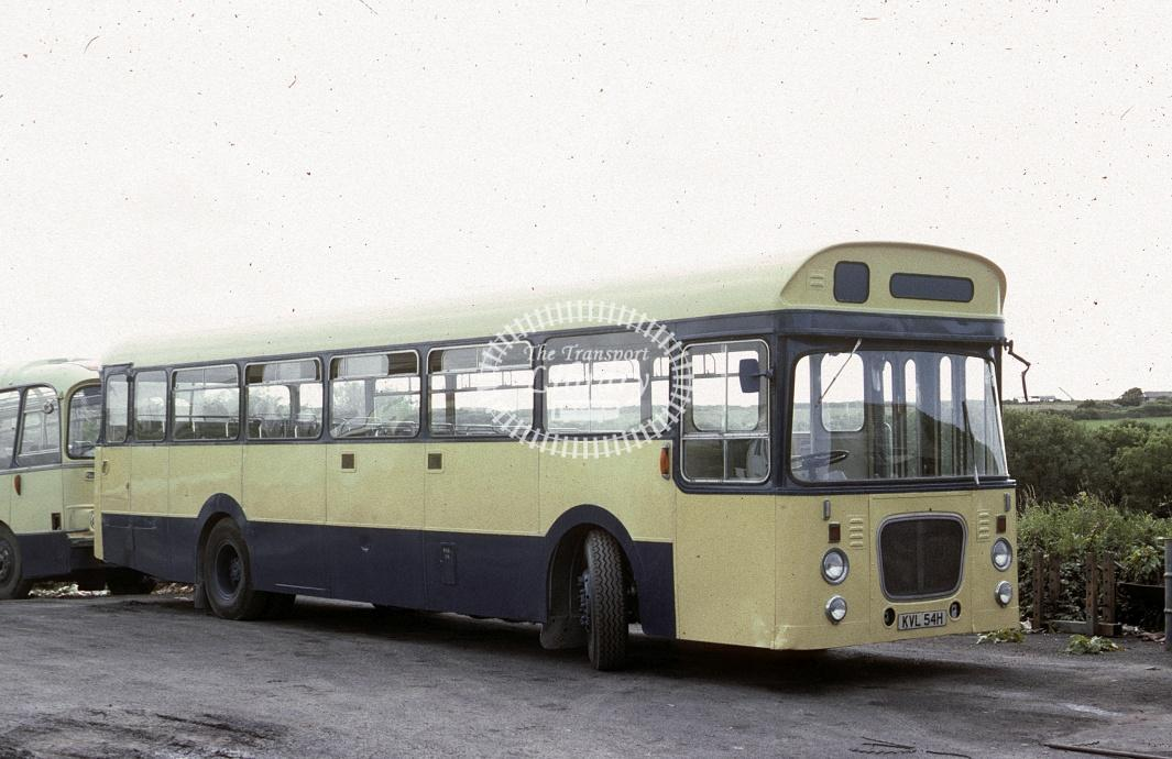 Fry, Tintagel Leyland PSUR1A KVL54M at Depot/Garage in 1982 - Jul 1982 - Roy Marshall