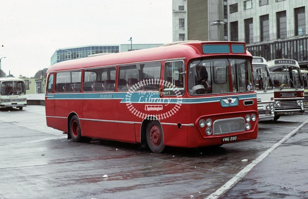 Webber, Blisland AEC Reliance VWG350 at Plymouth in 1979 - Oct 1979 - Roy Marshall