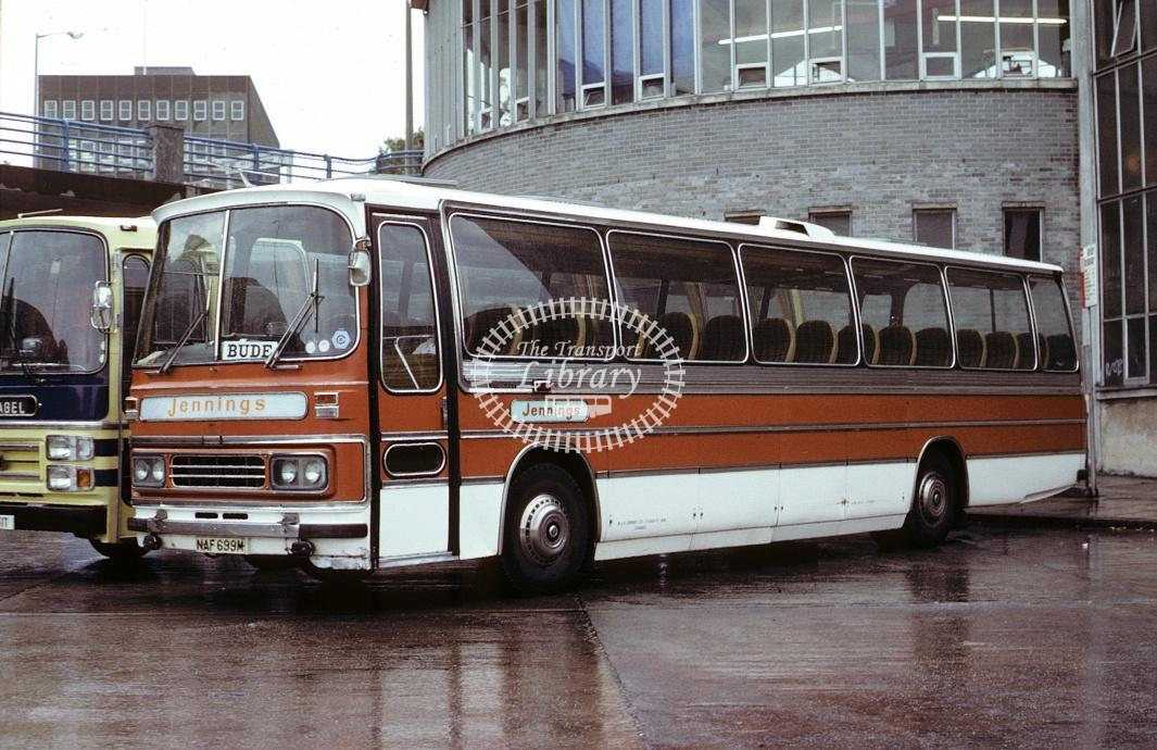 Jennings, Bude Bedford YRQ NAF699M at Plymouth in 1979 - Oct 1979 - Roy Marshall