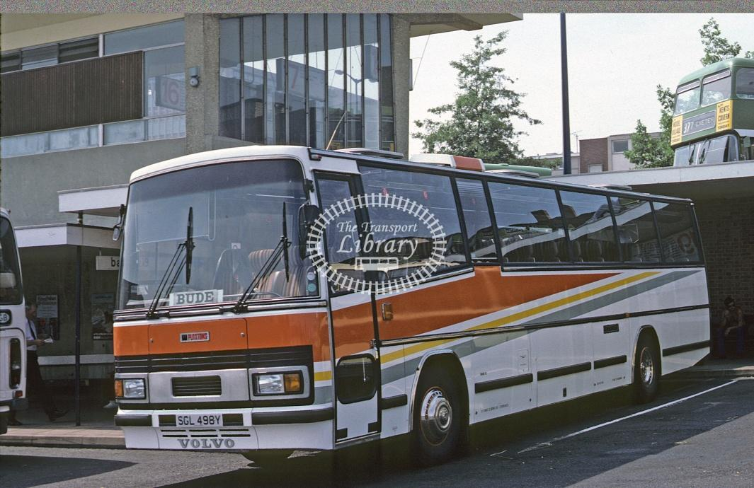 Jennings, Bude Volvo B10M SGL498Y at Exeter in 1983 - Jul 1983 - Roy Marshall