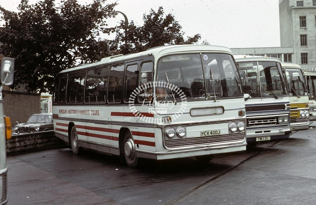 Newquay Motors Bedford VAM YCU400J at Plymouth in 1979 - Oct 1979 - Roy Marshall