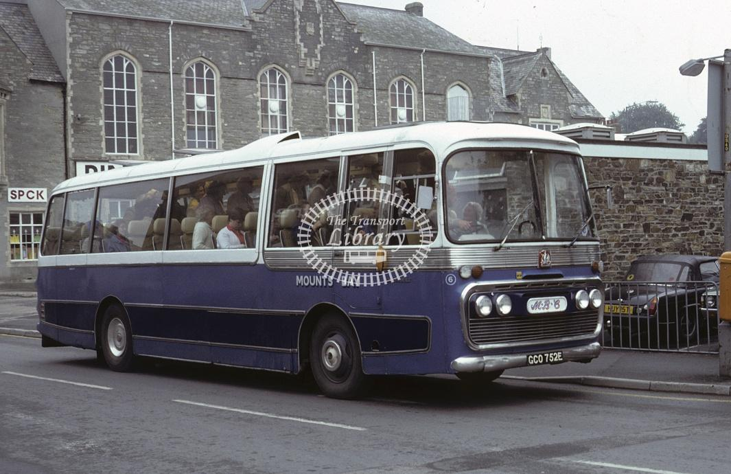 Oxenham, Penzance Bedford VAM GCO752E at Truro in 1982 - Jul 1982 - Roy Marshall