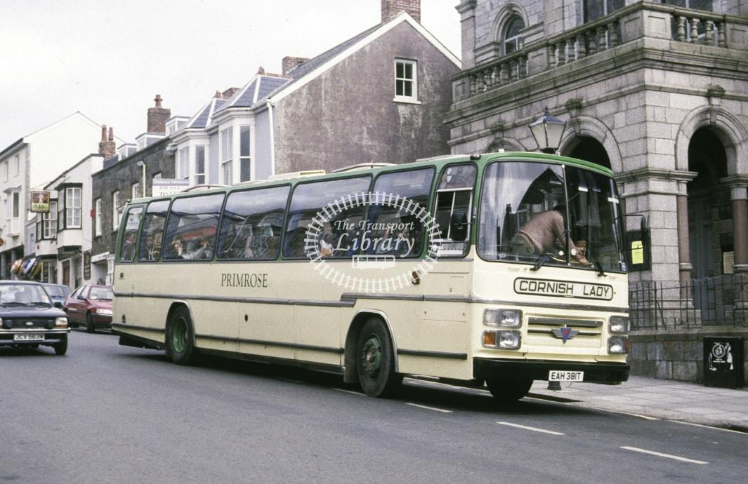 Primrose AEC Reliance EAH381T at Helston in 1991 - Jul 1991 - Roy Marshall