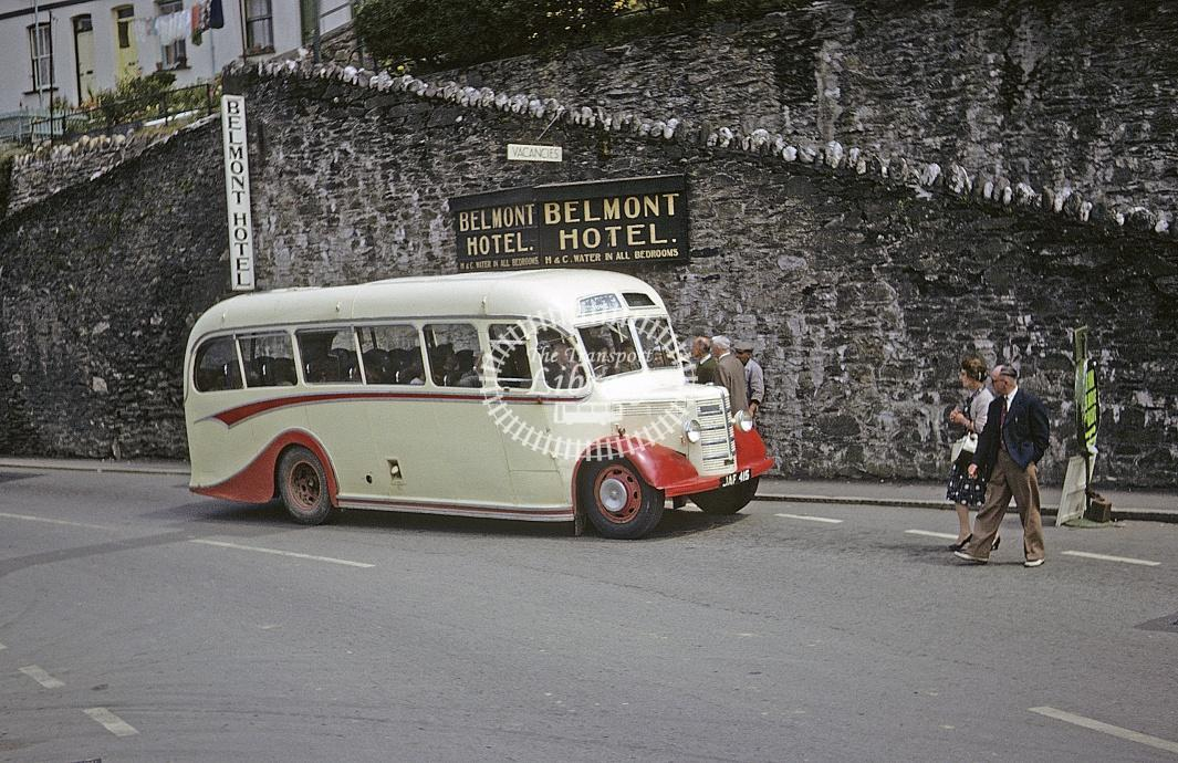 Pearce, Polperro Bedford OB JAF415 at Looe in 1963 - Jul 1963 - Roy Marshall