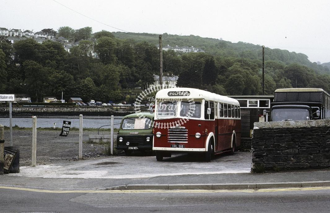 Pearce, Polperro Bedford SB VRL918 at Looe in 1972 - May 1972 - Roy Marshall