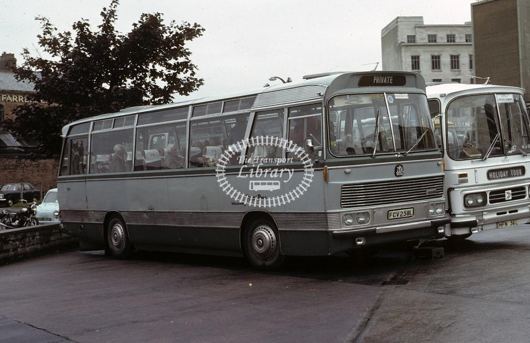 Prout Bros, Port Issac Bedford VAM FCV258L at Plymouth in 1979 - Oct 1979 - Roy Marshall
