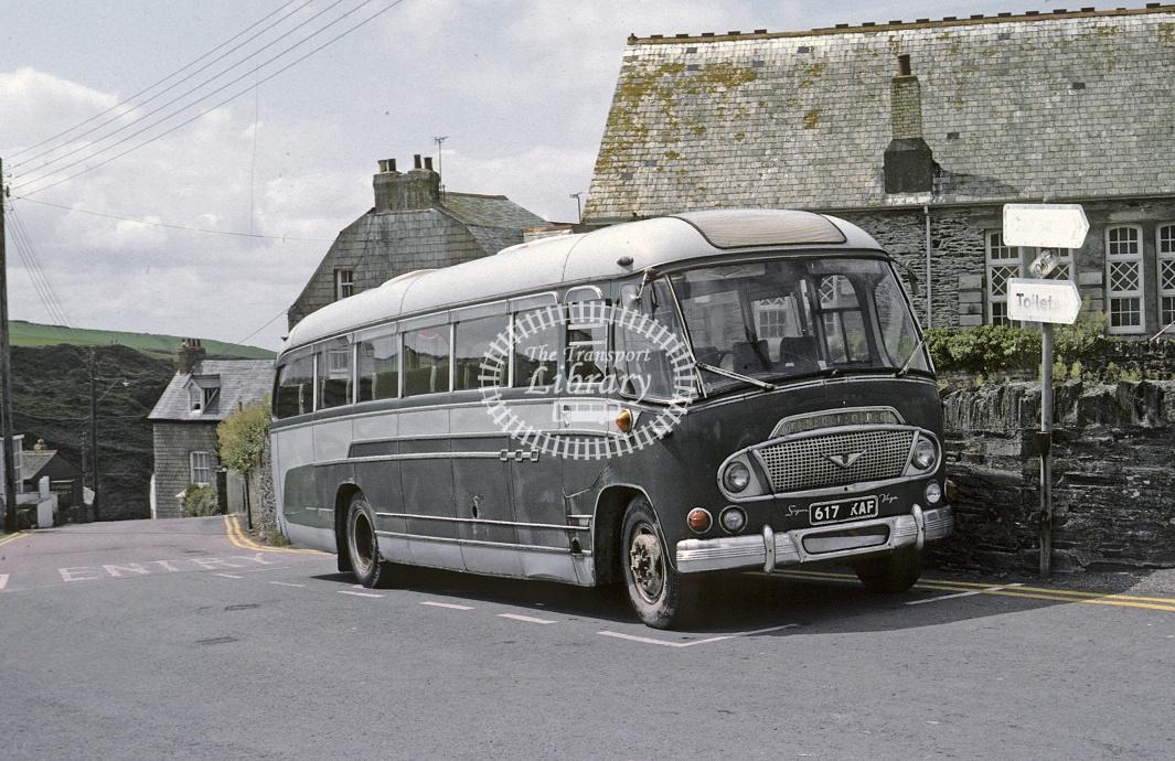 Prout Bros, Port Issac Bedford SB 617KAF at Port Isaac in 1982 - Jul 1982 - Roy Marshall