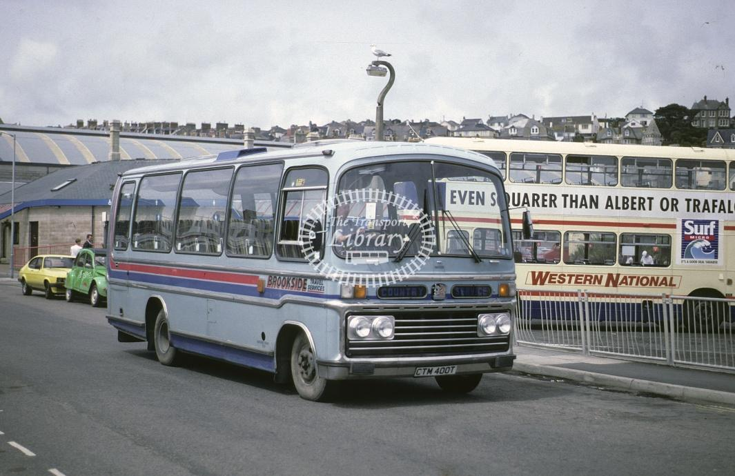 Thomas, Brookside Bedford VAS5 CTM400T at Penzance in 1991 - Jul 1991 - Roy Marshall