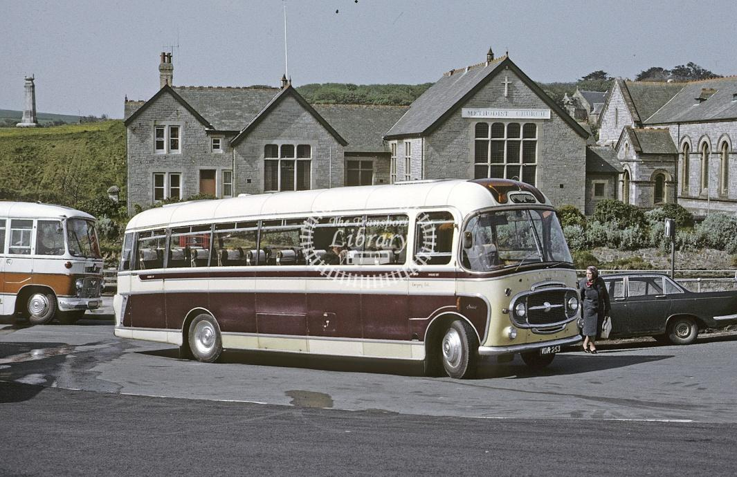 Tilley, Crackington Haven Bedford SB VDR253 at Bude in 1972 - May 1972 - Roy Marshall