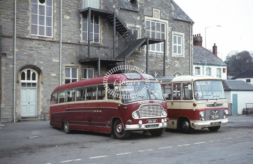 Tremain, Zelah Bedford SB 1194AR at Truro in 1972 - Apr 1972 - Roy Marshall