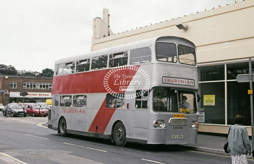 Truonian, Truro Leyland AN68 SFS159V at Truro in 1991 - Jul 1991 - Roy Marshall