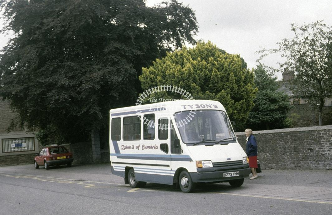 Tyson, Caldbeck Ford Transit D273VHH at Wigton in 1990 - Aug 1990 - Roy Marshall